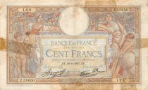 France 100 Francs Women and childs - 30-09-1937 Serial Z.55650 - G+
