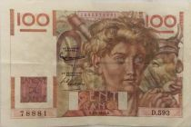 France 100 Francs Young Farmer - 01-04-1954 - Serial D.593 - VF