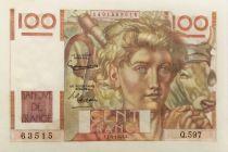 France 100 Francs Young Farmer - 01-04-1954 - Série Q.597 - XF