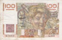 France 100 Francs Young Farmer - 01-10-1953 - Serial L.559 - F+