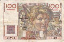 France 100 Francs Young Farmer - 02-01-1953 - Serial E.530 - F