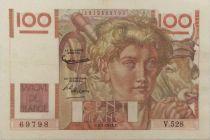 France 100 Francs Young Farmer - 02-01-1953 - Serial V.528 - VF
