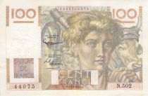 France 100 Francs Young Farmer - 02-10-1952 - Serial N.502 - Reversed Watermark - F+