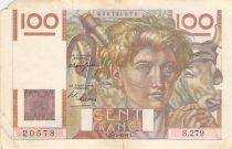 France 100 Francs Young Farmer - 02-12-1948 - Serial S.279 - F