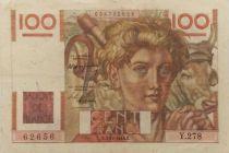 France 100 Francs Young Farmer - 02-12-1948 - Serial Y.278 - VF