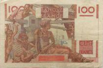 France 100 Francs Young Farmer - 03-04-1947 - Serial F.199 - VF