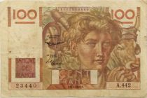 France 100 Francs Young Farmer - 03-04-1952 - Serial A.442 - F+