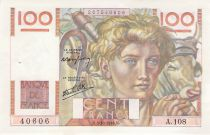 France 100 Francs Young Farmer - 03-10-1946 - Serial A.108 - XF
