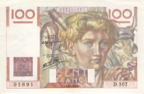 France 100 Francs Young Farmer - 03-10-1946 - Serial T.106 - VF