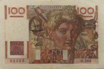 France 100 Francs Young Farmer - 03-12-1953 - Serial O.569 - VF