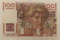 France 100 Francs Young Farmer - 04-09-1952 - Serial A.462 - VF+