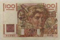 France 100 Francs Young Farmer - 04-09-1952 - Serial X.472 - VF+