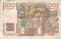 France 100 Francs Young Farmer - 04-09-1952 - Serial Y.484 - F+