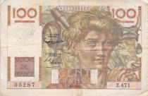 France 100 Francs Young Farmer - 04-09-1952 - Serial Z.471 - F+