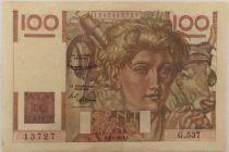 France 100 Francs Young Farmer - 05-02-1953 - Serial G.537 - VF