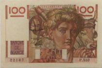 France 100 Francs Young Farmer - 05-02-1953 - Serial P.533 - XF+
