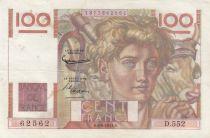 France 100 Francs Young farmer - 06-08-1953 - Serial D.552