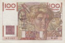 France 100 Francs Young farmer - 06-09-1951 - Serial M.405