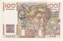 France 100 Francs Young Farmer - 07-01-1954 - Serial S.578 - F+