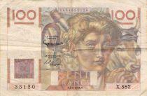France 100 Francs Young Farmer - 07-01-1954 - Serial X.582 - F