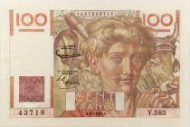 France 100 Francs Young Farmer - 07-01-1954 - Serial Y.583 - XF