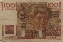France 100 Francs Young Farmer - 07-02-1952 - Serial Y.428 - F
