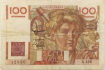 France 100 Francs Young Farmer - 07-02-1953 - Serial G.426 - VF