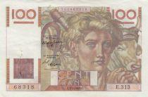 France 100 Francs young farmer - 07-04-1949 - Serial E.313