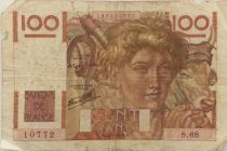 France 100 Francs Young Farmer - 11-07-1946 - Serial S.68 - VG to F