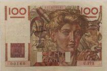 France 100 Francs Young Farmer - 12-10-1950 - Serial U.373 - VF
