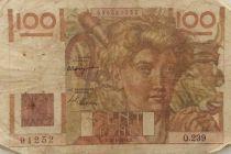 France 100 Francs Young Farmer - 15-04-1948 - Serial Q.239 - F