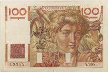 France 100 Francs Young Farmer - 16-11-1950 - Serial A.389 - VF
