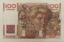 France 100 Francs Young Farmer - 16-11-1950 - Serial D.377 - XF+