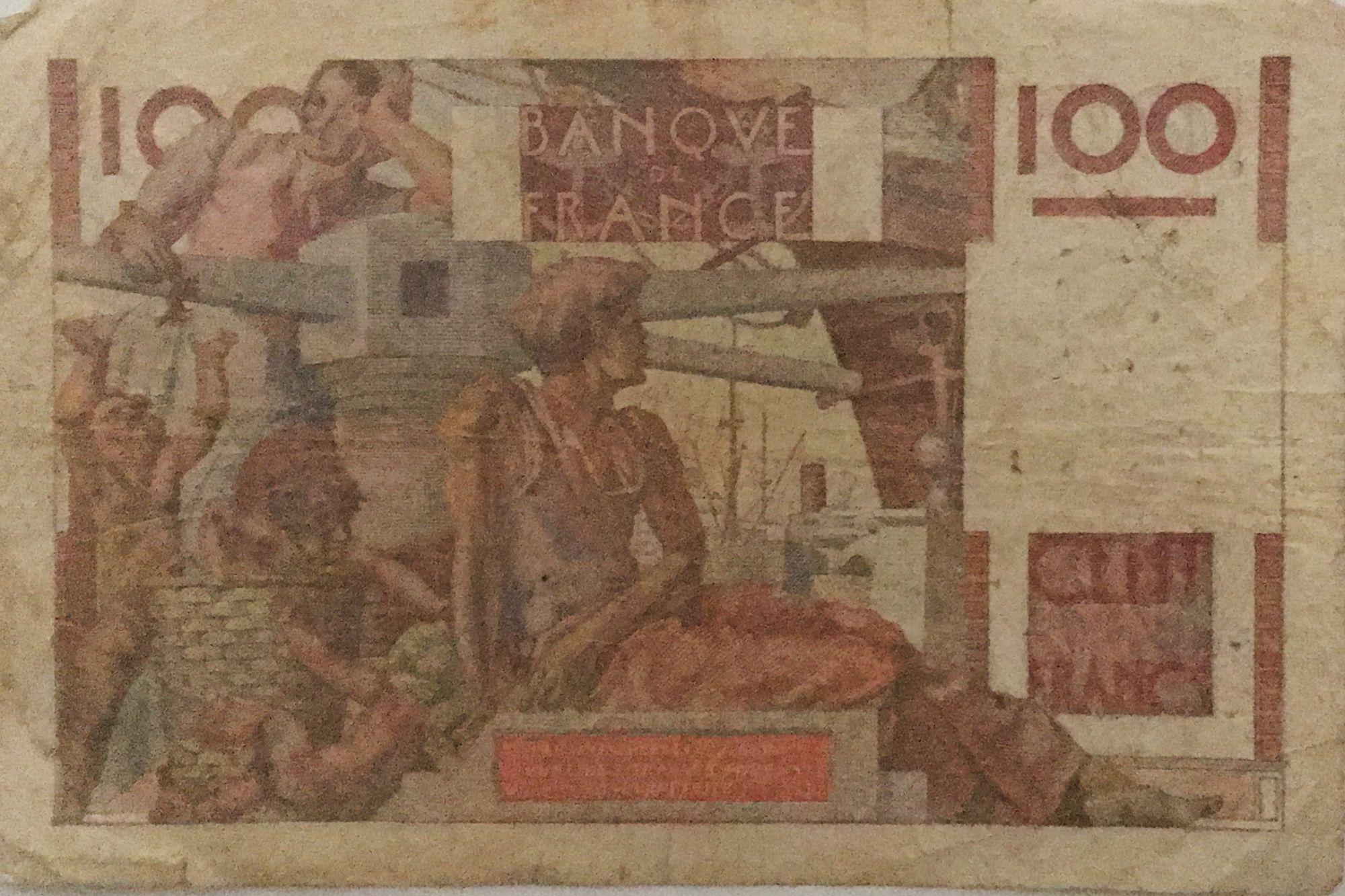France 100 Francs Young Farmer - 16-11-1950 - Serial V.379 - F