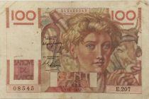 France 100 Francs Young Farmer - 17-07-1947 - Serial E.207 - VF
