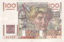 France 100 Francs Young Farmer - 18-04-1946 - Serial V.39 - F to VF