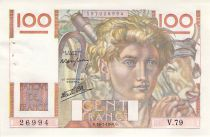 France 100 Francs Young Farmer - 18-07-1946 - Serial V.79 - XF+