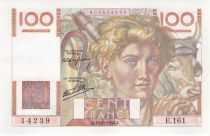 France 100 Francs Young Farmer - 19-12-1946 - Serial E.161 - XF
