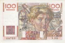 France 100 Francs Young Farmer - 19-12-1946 - Serial X.164 - XF