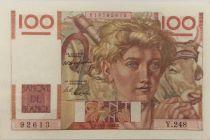 France 100 Francs Young Farmer - 29-04-1948 - Serial Y.248 - XF+
