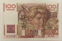 France 100 Francs Young Farmer - 29-06-1950 - Serial H.355 - aUNC