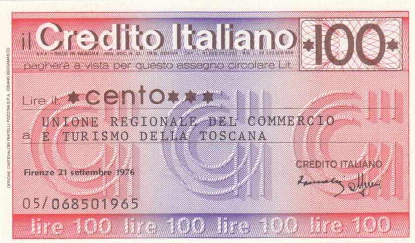 France 100 Lires Credito Italiano, 1976 - Toscana - Neuf