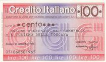 France 100 Lires Credito Italiano, 1976 - Toscane- Neuf