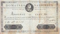 France 100 Livres - 19 Juin 1791 - Sign. BROYARD 5 B.