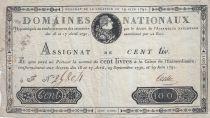 France 100 Livres - 19 Juin 1791 - Sign. TESTU 4 F.