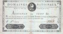 France 100 Livres - 29 Septembre -1790 - Sign. LARRIVEE - S. N° 11808