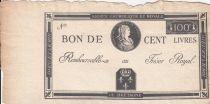 France 100 Livres Bon à l\'effigie de LOUIS XVII - non émis - 1794 - FAUX