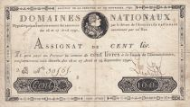 France 100 Livres Bust of Louis XVI - 29-09-1790 Serial 2B - Sign. Lecointe - F to VF