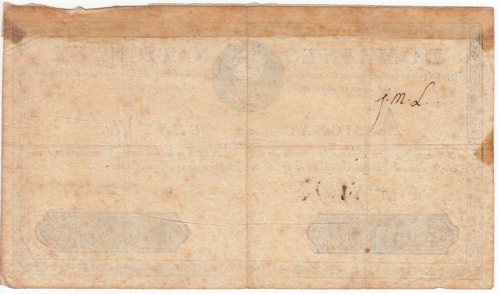France 100 Livres Louis XVI - 19-06-1791 - Sign. Ragueneau
