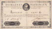 France 100 Livres Louis XVI - 19-06-1791 Série 5G - Sign. Ragueneau - PTTB